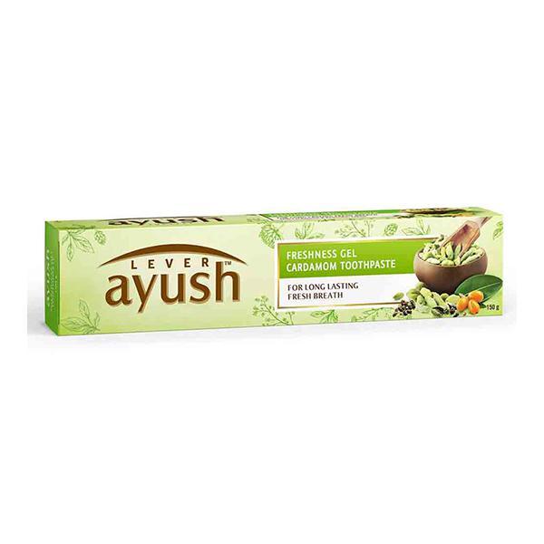 Lever Ayush Freshness Gel Cardamom Toothpaste 150 gm