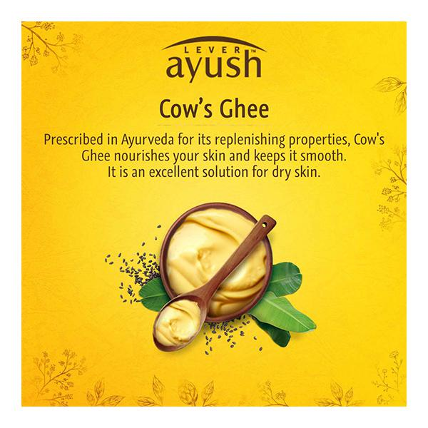 Lever Ayush Moisturising Cow's Ghee Soap 100 gm