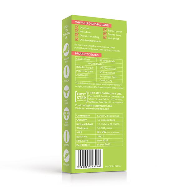 Sirona Sanitary & Diapers Disposal Bag 15's