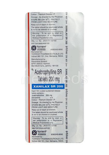 Xanilax SR 200mg Tablet 10'S