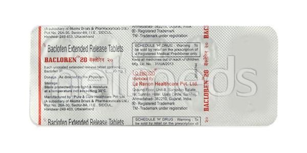 Bacloren 20mg Tablet 10'S