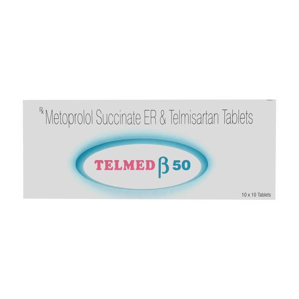 Telmed Beta 50mg Tablet 10'S