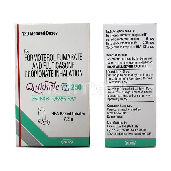 Quikhale FF 250mcg/7.2Gm Inhaler 120Md