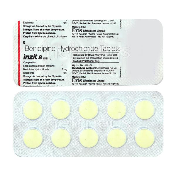 Inzit 8mg Tablet 10'S