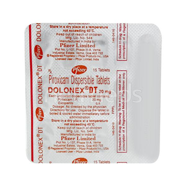 Dolonex DT 20mg Tablet 15'S