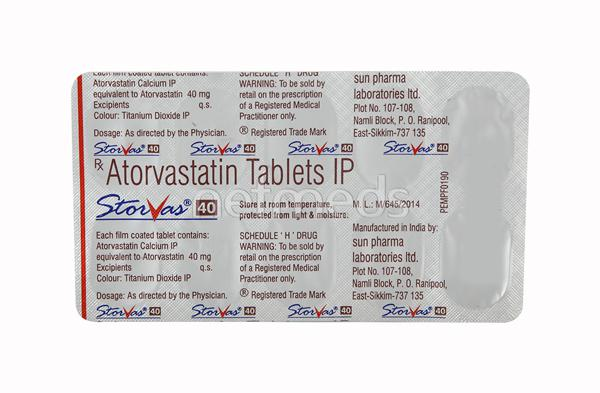 Storvas 40mg Tablet 10'S