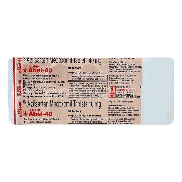 Abel 40mg Tablet 10'S