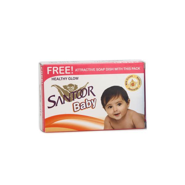 Santoor Baby Soap with Milk Cream, Almond Oil & Saffron 75 gm