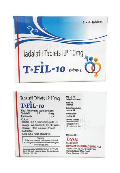 T Fil 10mg Tablet 4'S