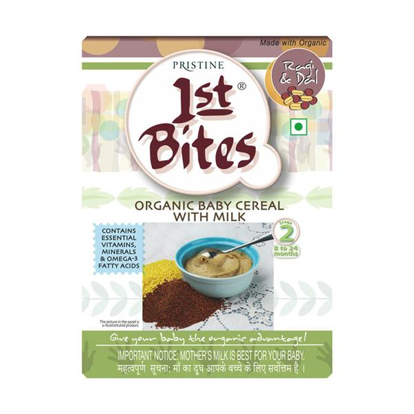 Pristine 1st Bite Baby Cereal Stage 2 (8 to 24 months) Powder - Ragi & Dal 300 gm (Refill Pack)