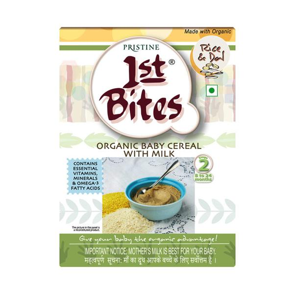 Pristine 1st Bite Baby Cereal Stage 2 (8 to 24 months) Powder - Rice & Dal 300 gm (Refill Pack)