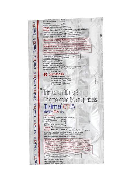 Telma CT 80/12.5mg Tablet 15'S