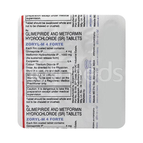 Zoryl M4 Forte Tablet 15'S