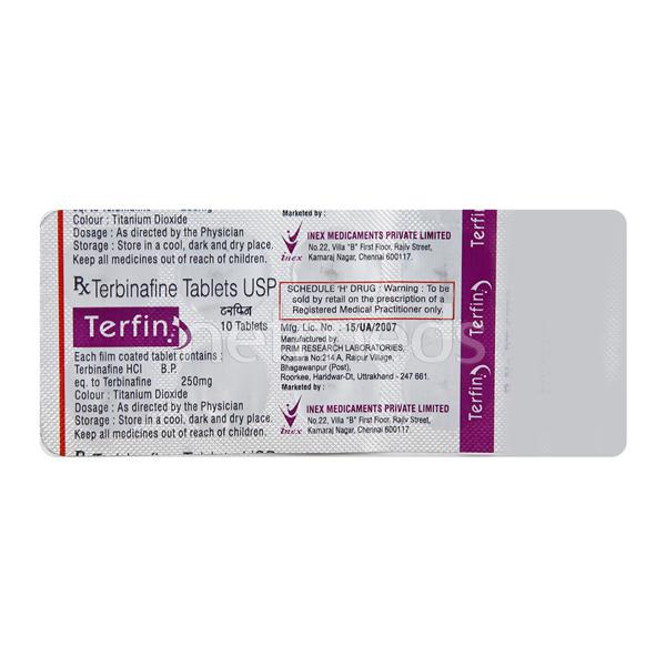 Terfin 250mg Tablet 10'S