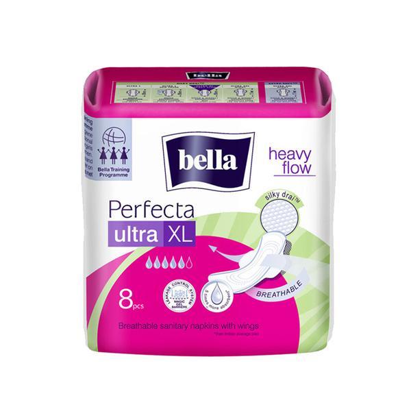 Bella Perfecta Ultra Heavy Flow Ultrathin Sanitary Napkins (XL) 8's