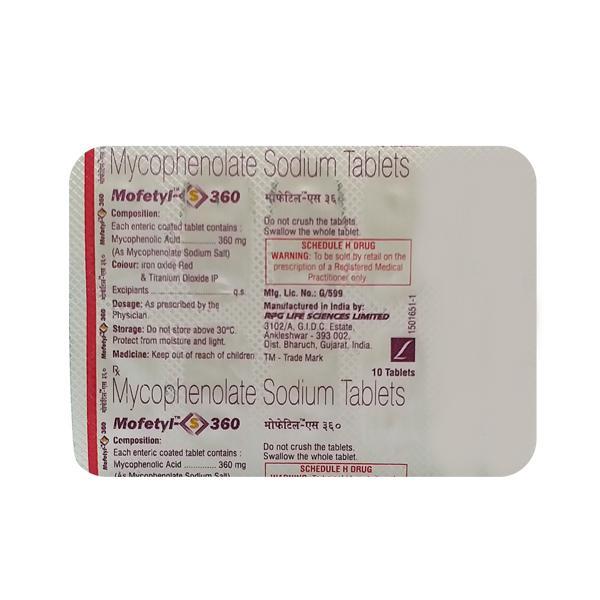 Mofetyl S 360mg Tablet 10'S