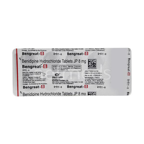 Bengreat 8mg Tablet 10'S