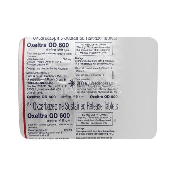 Oxeltra OD 600mg Tablet 10'S