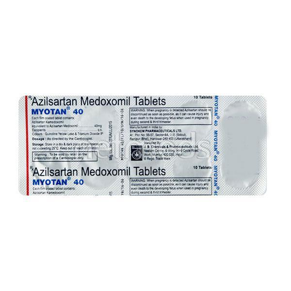 Myotan 40mg Tablet 10'S