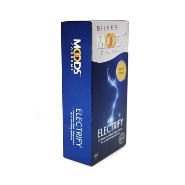 Moods Silver Condoms - Electrify 3's
