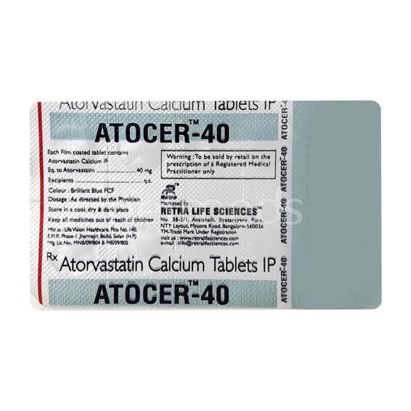 Atocer 40mg Tablet 10'S
