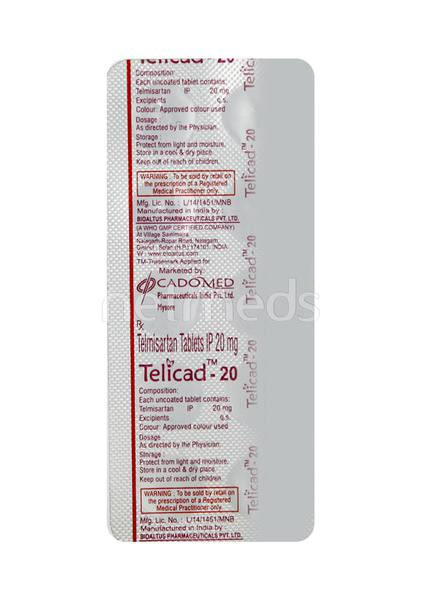 Telicad 20mg Tablet 10'S