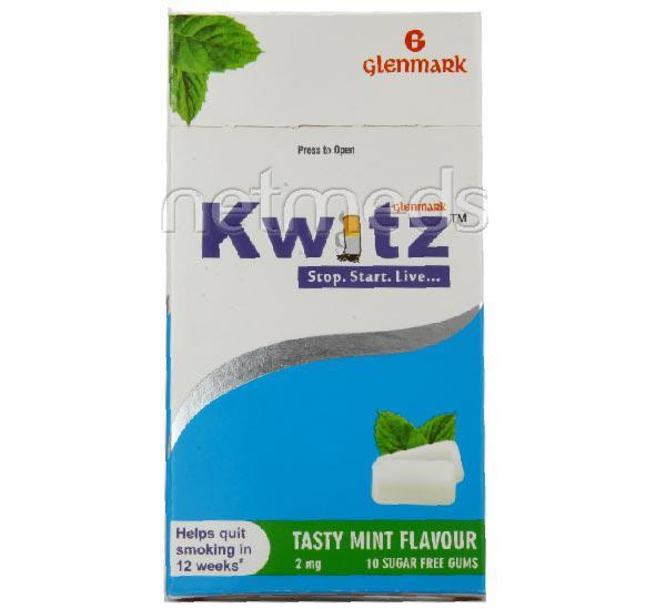 Kwitz Mint Flavour 2mg Chew Gum 10'S