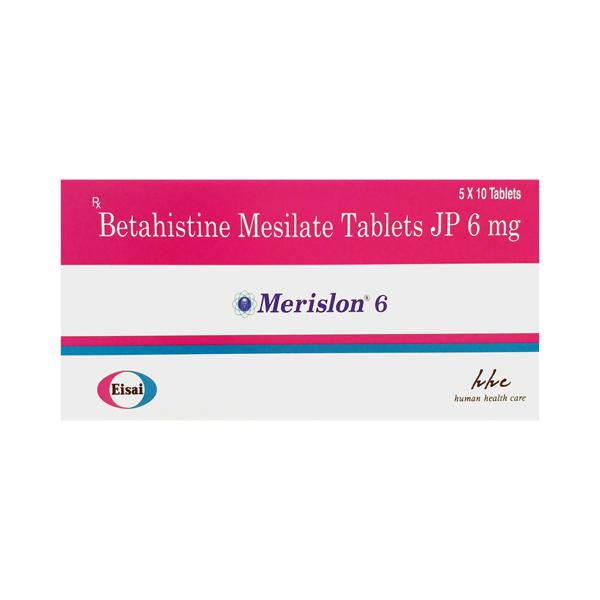 Merislon 6mg Tablet 10'S