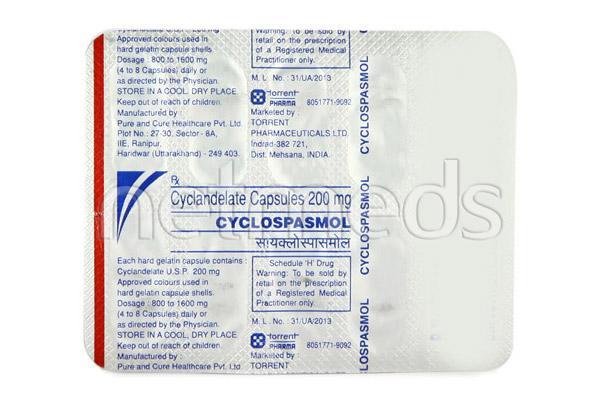 Cyclospasmol 200mg Capsule 10'S