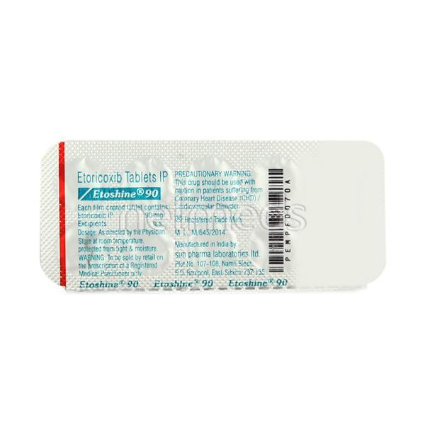 Etoshine 90mg Tablet 10'S