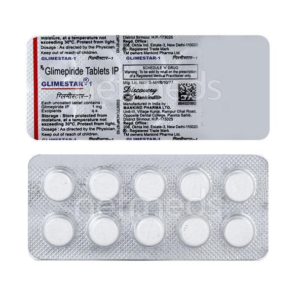 Glimestar 1mg Tablet 10'S