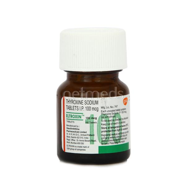 Eltroxin 100mcg Tablet 100 S Buy Medicines Online At Best Price