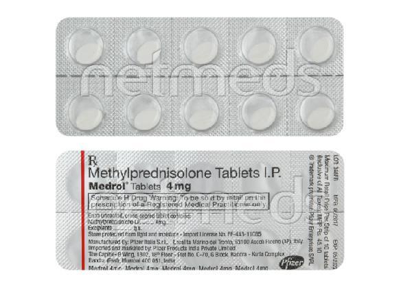 Medrol 4mg Tablet 10'S