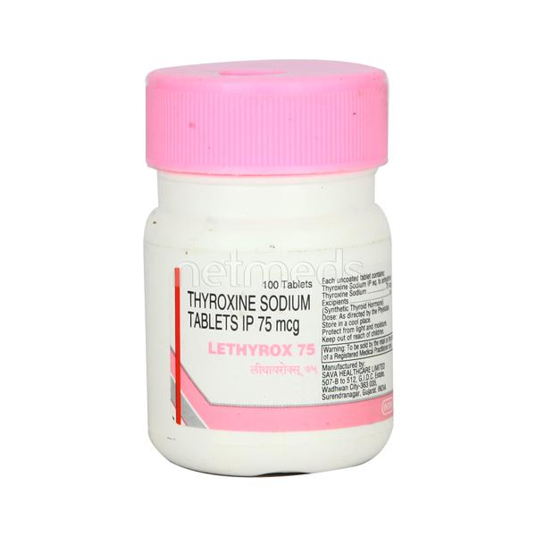 Lethyrox 75mcg Tablet 100 S Buy Medicines Online At Best Price