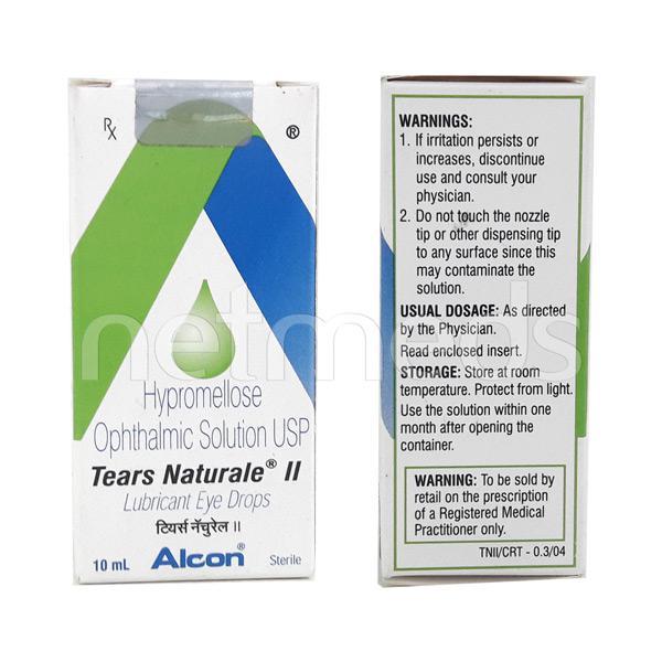 Tears Naturale II Lubricant Eye Drops 10ml