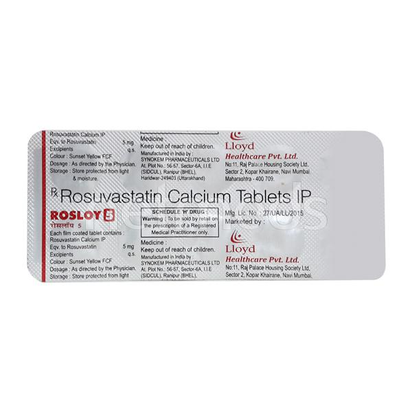 Rosloy 5mg Tablet 10'S