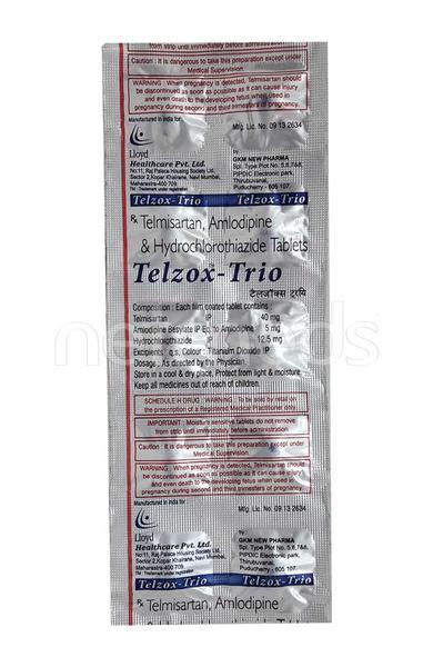 Telzox Trio 40mg Tablet 10'S