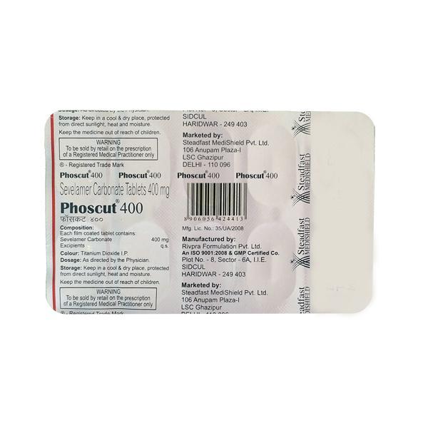Phoscut 400mg Tablet 10'S
