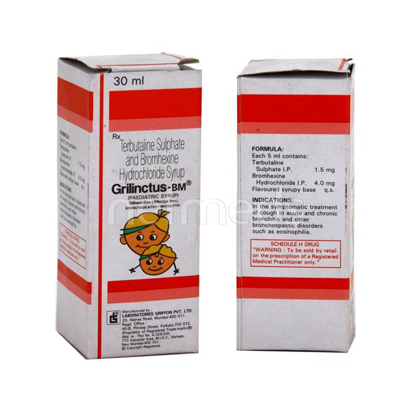 Grilinctus BM Paediatric Syrup 30ml