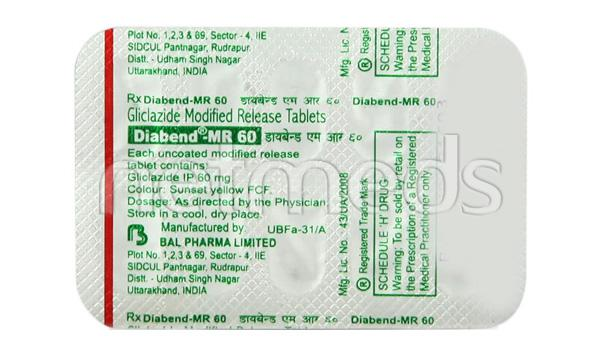 Diabend MR 60mg Tablet 10'S