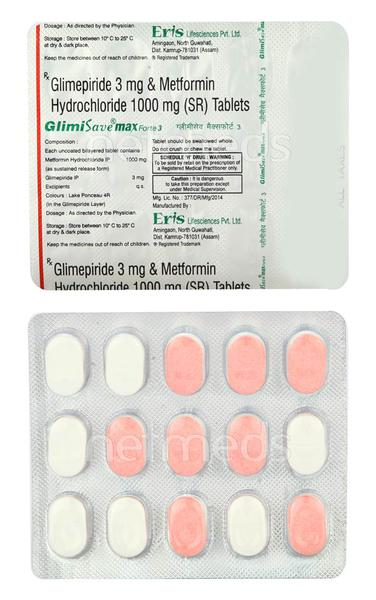Glimisave Max Forte 3mg Tablet 15'S