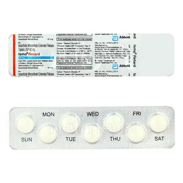 Ismo Retard 40mg Tablet 7'S