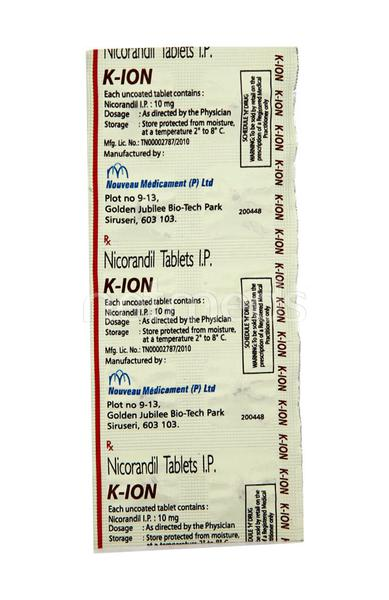K Ion 10mg Tablet 10'S