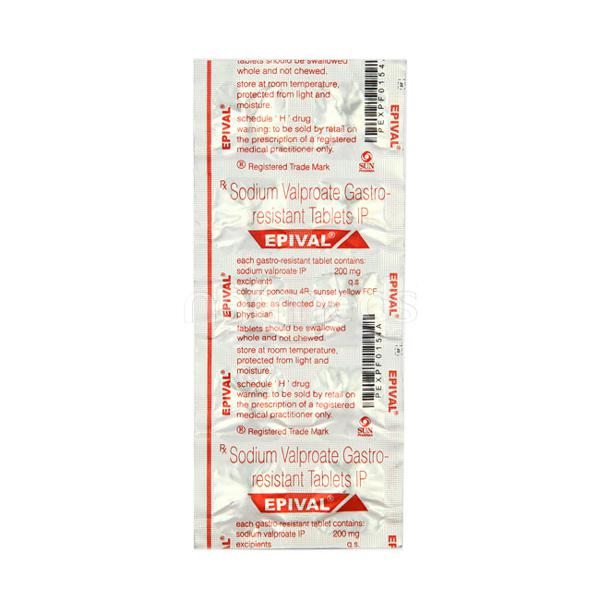 Epival 200mg Tablet 10'S