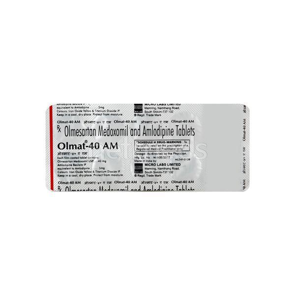 Olmat AM 40mg Tablet 10'S