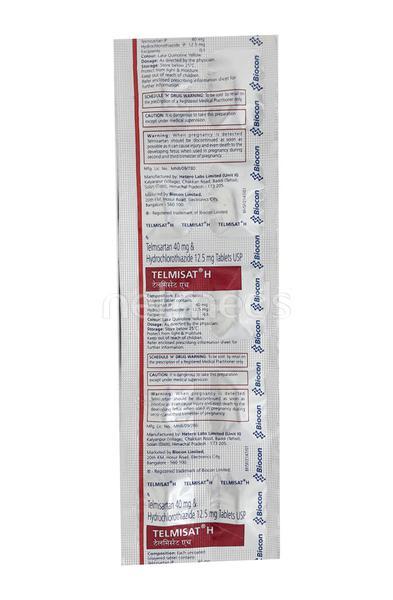 Telmisat H 40mg Tablet 10'S