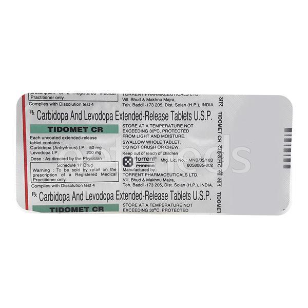 Tidomet CR Tablet 10'S
