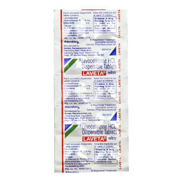 Laveta Tablet 10'S