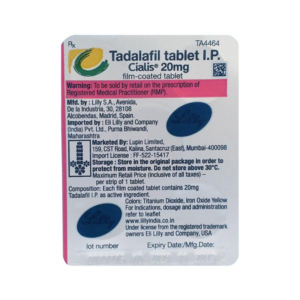 Cialis 20mg Tablet 1 S Buy Medicine Online For Best Price Netmeds
