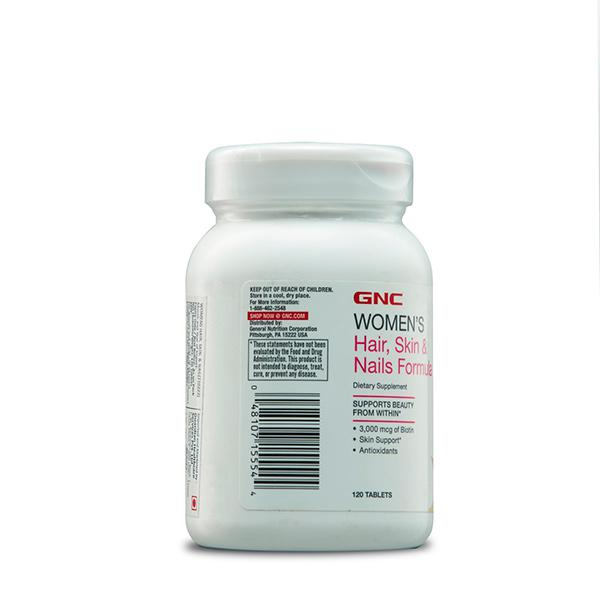 GNC Women's Hair Skin & Nails Formula Tablet 120's